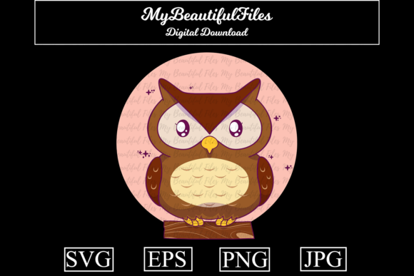 Download Free Owl Cartoon Illustration Graphic By Mybeautifulfiles Creative for Cricut Explore, Silhouette and other cutting machines.