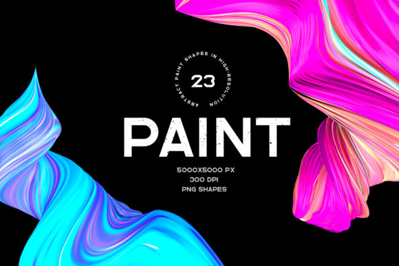 Paint - 23 Shapes Graphic Objects By doraanna17