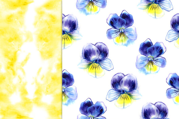 Pansy Flowers Digital Paper Pack Graphic Patterns By NataliMyaStore - Image 2
