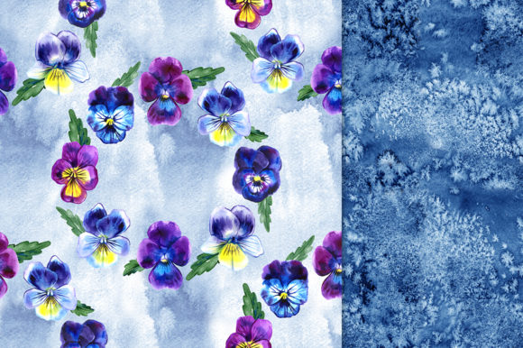 Pansy Flowers Digital Paper Pack Graphic Patterns By NataliMyaStore - Image 6
