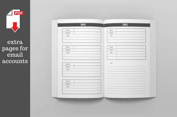 Print on Demand: Password Logbook 6x9 Inches 106 Pages Graphic KDP Interiors By KDP Template Designs - Image 3