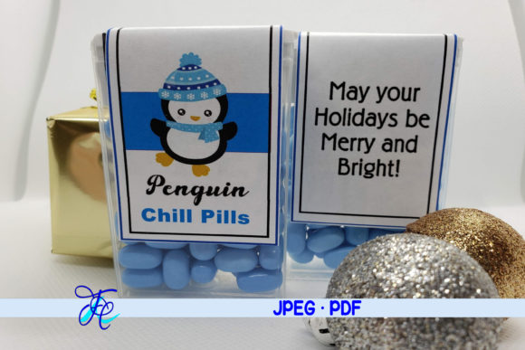 Penquin Chill Pills - Tic Tac Labels Graphic Crafts By Family Creations