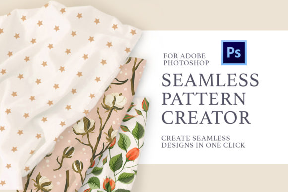 Print on Demand: Photoshop Seamless Pattern Creator. Graphic Actions & Presets By Red Ink - Image 1