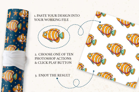 Print on Demand: Photoshop Seamless Pattern Creator. Graphic Actions & Presets By Red Ink - Image 3