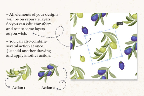 Print on Demand: Photoshop Seamless Pattern Creator. Graphic Actions & Presets By Red Ink - Image 5