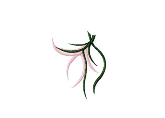 Pink Maiden Flower Sewing & Crafts Embroidery Design By Red Moon Gardens