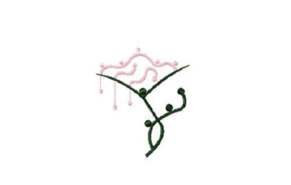 Pink Martini Flower Sewing & Crafts Embroidery Design By Red Moon Gardens