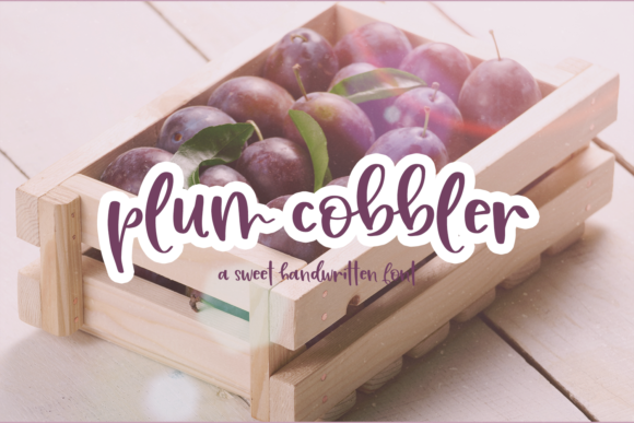 Print on Demand: Plum Cobbler Script & Handwritten Font By craftingfonts