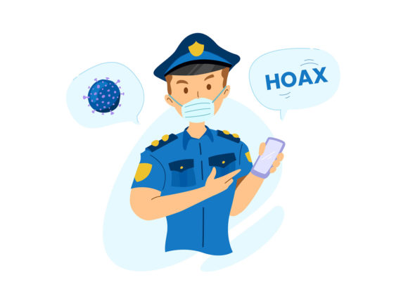Download Free Police Against Hoax About Virus Graphic By Farooqa Official for Cricut Explore, Silhouette and other cutting machines.