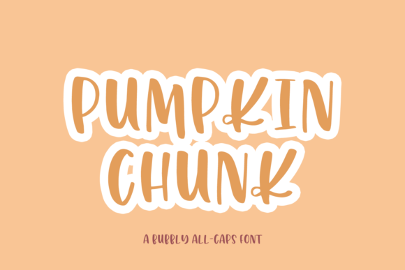 Print on Demand: Pumpkin Chunk Sans Serif Font By craftingfonts