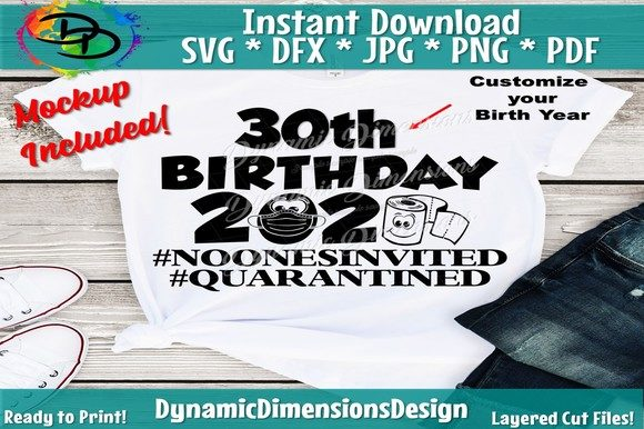 Print on Demand: Quarantine Birthday 2020 Graphic Crafts By dynamicdimensions