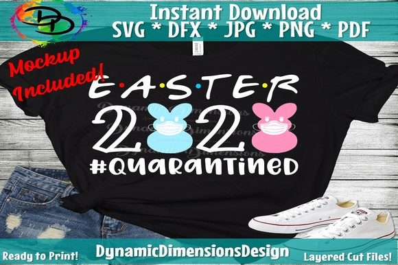 Print on Demand: Quarantined, Easter 2020 Graphic Crafts By dynamicdimensions