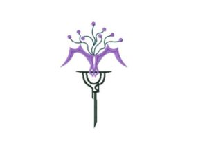 Queen Lunaria Orchid Sewing & Crafts Embroidery Design By Red Moon Gardens