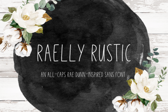 Print on Demand: Raelly Rustic Sans Serif Fuente Por craftingfonts