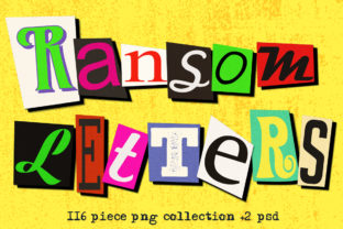 Ransom Letter Cutout Alphabet Set Graphic Objects By Dapper Dudell