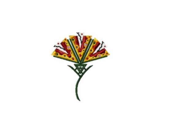 Recycled Rainbow Flower Sewing & Crafts Embroidery Design By Red Moon Gardens