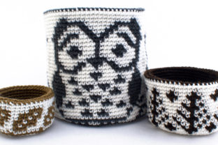 Reversible Trio of Forest Baskets Graphic Crochet Patterns By Knit and Crochet Ever After