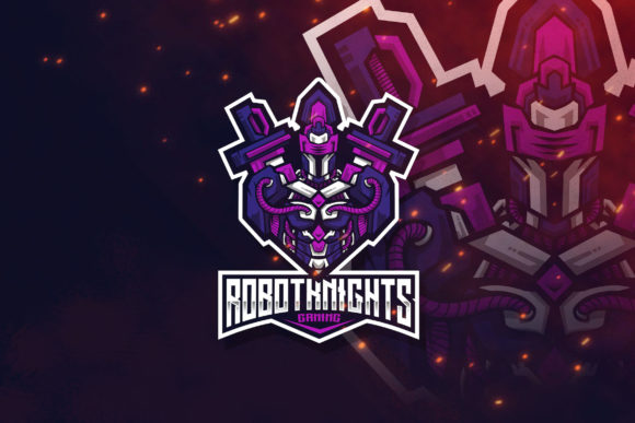 Download Free Robot Knight Esport Logo Template Grafico Por Stringlabs Creative Fabrica for Cricut Explore, Silhouette and other cutting machines.