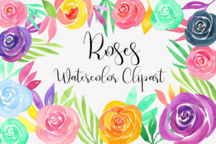 Roses Watercolor Bouquets Clip Art Graphic Illustrations By PinkPearly