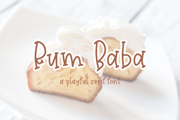 Print on Demand: Rum Baba Serif Font By craftingfonts