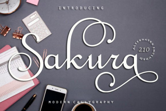 Print on Demand: Sakura Script & Handwritten Font By FontCloud
