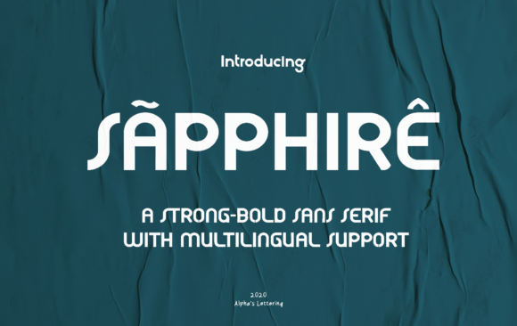 Print on Demand: Sapphire Sans Serif Font By syafiiirman - Image 1