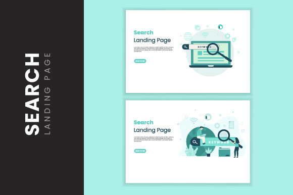 Search Illlustration Landing Page Graphic Illustrations By HengkiL