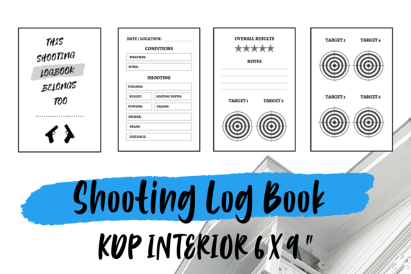 Print on Demand: Shooting Log Book | KDP Interior Graphic KDP Interiors By Hungry Puppy Studio