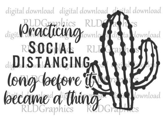 Download Free Social Distancing Cactus Sublimation Graphic By Rldgraphics SVG Cut Files