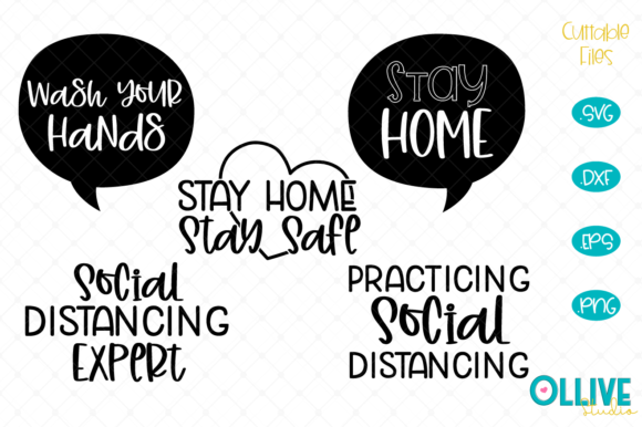Download Free Social Distancing Stay Home Graphic By Ollivestudio Creative for Cricut Explore, Silhouette and other cutting machines.