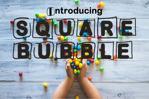 Print on Demand: Square Bubble Display Font By Mr.pagman - Image 1