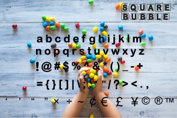 Print on Demand: Square Bubble Display Font By Mr.pagman - Image 3