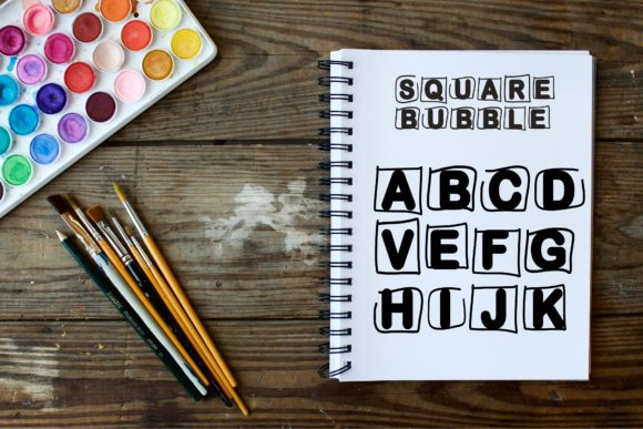 Print on Demand: Square Bubble Display Font By Mr.pagman - Image 4