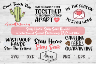 Download Free Stay Home Bundle Graphic By Sheryl Holst Creative Fabrica for Cricut Explore, Silhouette and other cutting machines.