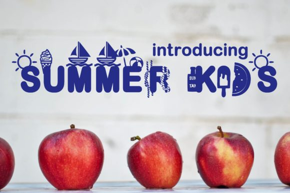 Print on Demand: Summer Kids Display Font By Mr.pagman