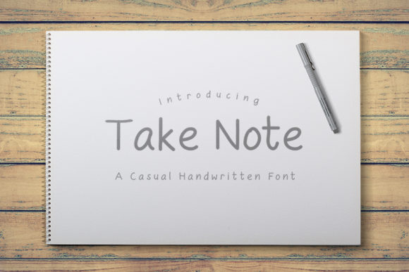 Print on Demand: Take Note Script & Handwritten Font By R Whitehurst Design