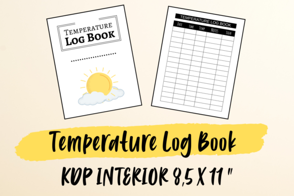 Print on Demand: Temperature Log Book | KDP Interior Graphic KDP Interiors By Hungry Puppy Studio