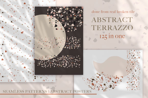 Download Free Terrazzo Abstract Bundle Graphic By Red Ink Creative Fabrica for Cricut Explore, Silhouette and other cutting machines.