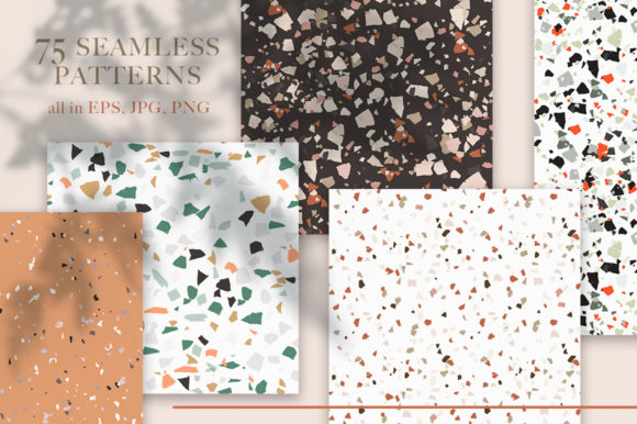 Print on Demand: Terrazzo Abstract Bundle. Graphic Graphic Templates By Red Ink - Image 2