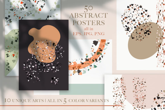 Print on Demand: Terrazzo Abstract Bundle. Graphic Graphic Templates By Red Ink - Image 4