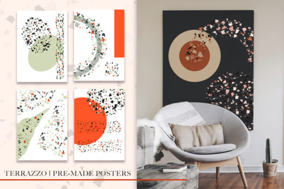 Print on Demand: Terrazzo Abstract Bundle. Graphic Graphic Templates By Red Ink - Image 6