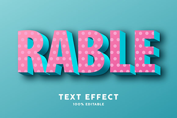 Text Effect - 3d Pink Blue Minimal Graphic Graphic Templates By Amrikhsn