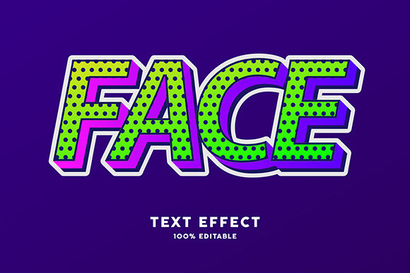Download Free Text Effect Modern Pop Art Style Graphic By Amrikhsn for Cricut Explore, Silhouette and other cutting machines.