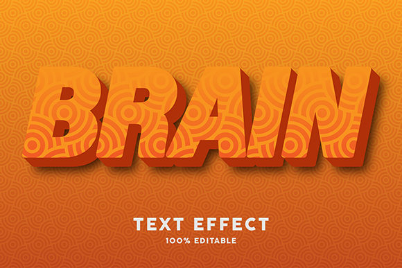 Text Effect - Orange Color with Texture Graphic Graphic Templates By Amrikhsn
