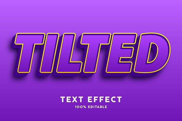 Download Free Text Effect Purple With Gold Outline Graphic By Amrikhsn for Cricut Explore, Silhouette and other cutting machines.