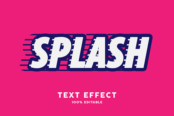 Text Effect - Splash Sticker Style Graphic Graphic Templates By Amrikhsn