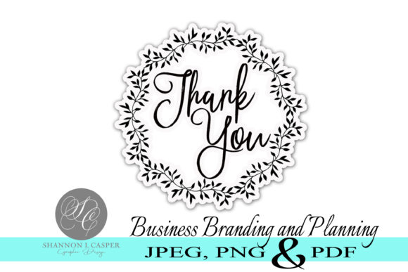 Print on Demand: Thank You Sticker Print and Cut Graphic Illustrations By Shannon Casper