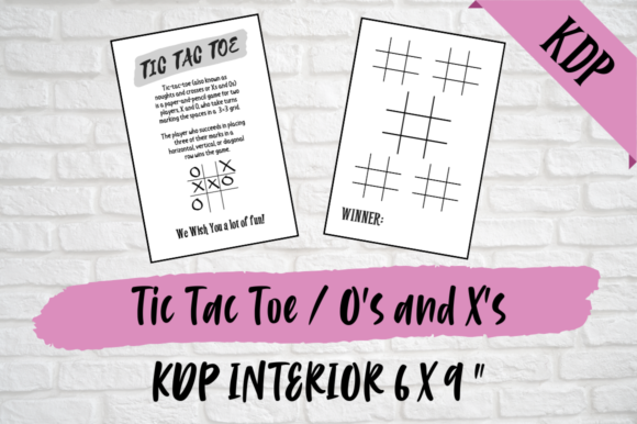 Print on Demand: Tic Tac Toe / X's and O's | KDP Interior Graphic KDP Interiors By Hungry Puppy Studio
