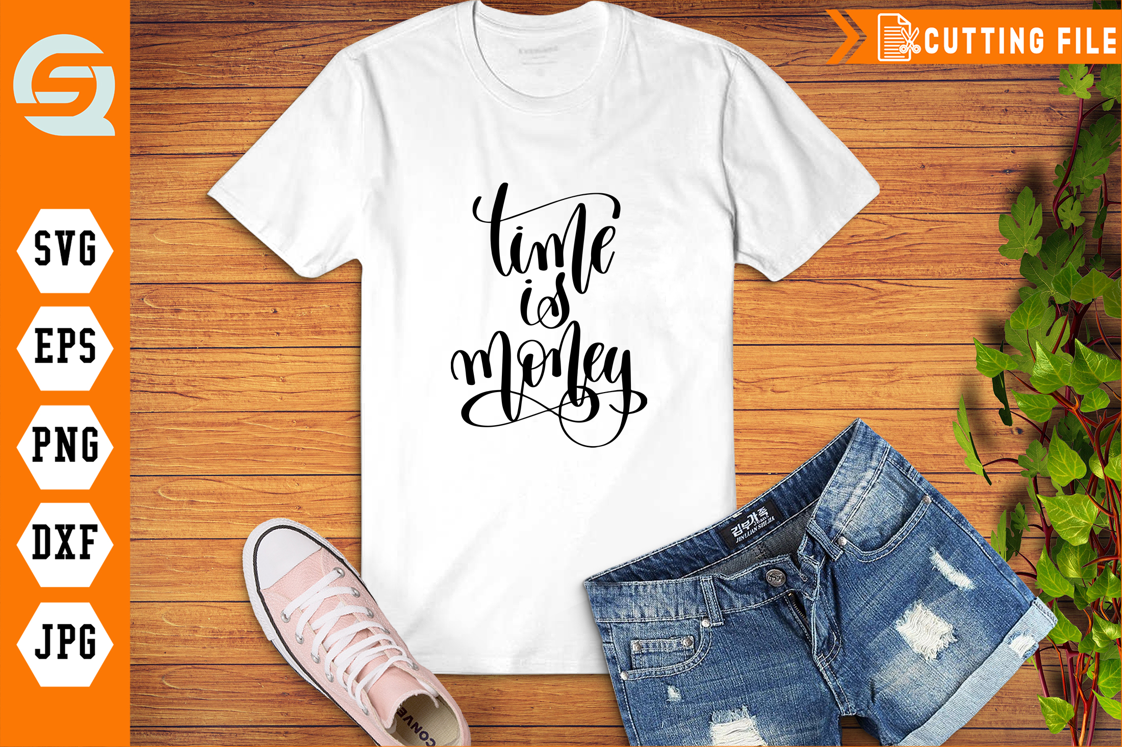 Download Free Time Is Money Hand Written Graphic By Crafty Files Creative for Cricut Explore, Silhouette and other cutting machines.
