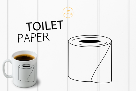 Download Free Toilet Paper Roll Graphic By Jpjournalsandbooks Creative Fabrica for Cricut Explore, Silhouette and other cutting machines.